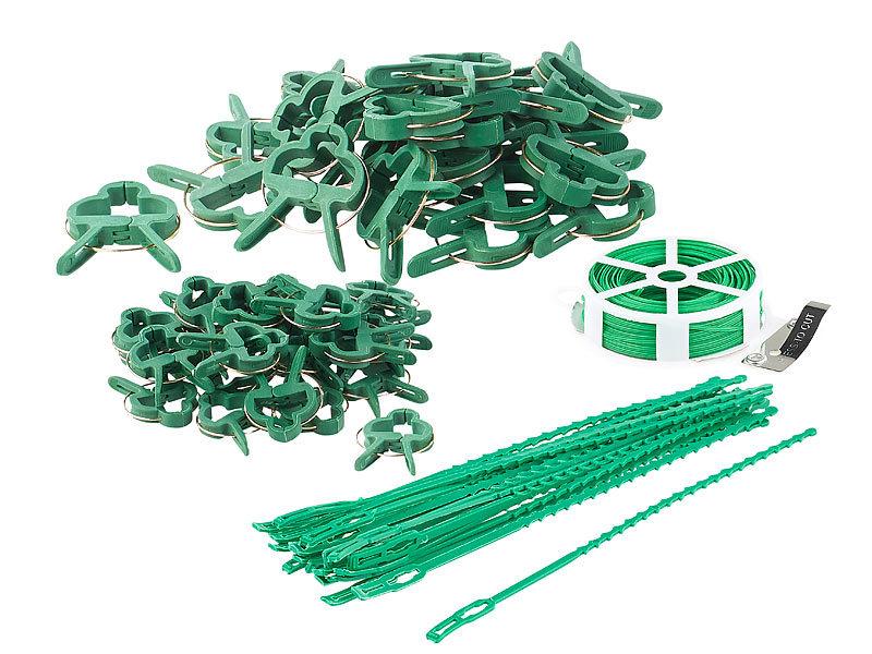 Blumen- und Pflanzen-Befestigungen Royal Gardineer Pflanzenhalter: Pflanzenbefestigungs-Set mit Pflanzenclips 71-teilig XXL-Pack
