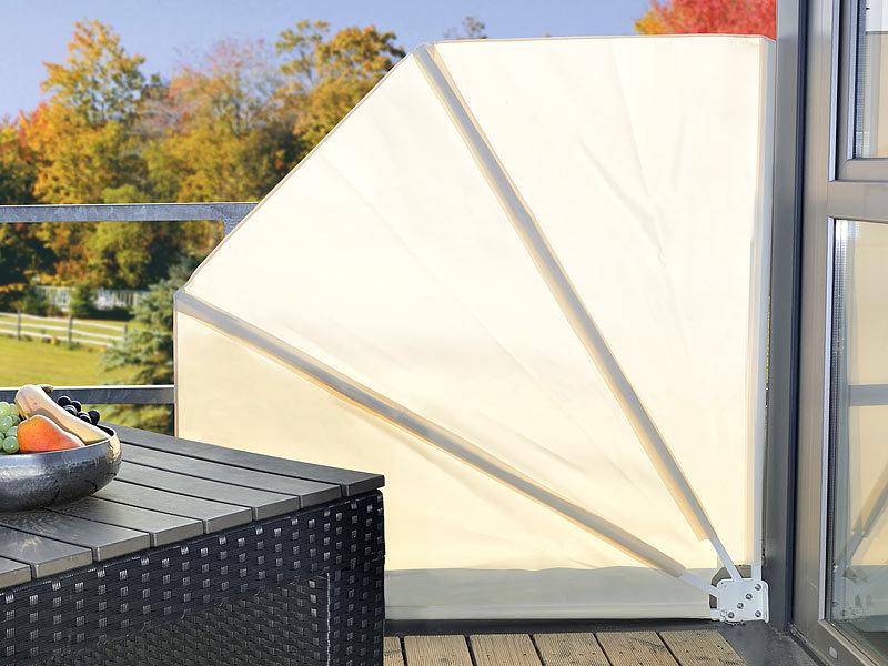 royal gardineer balkon sichtschutz f cher 160 x 140 cm beige. Black Bedroom Furniture Sets. Home Design Ideas