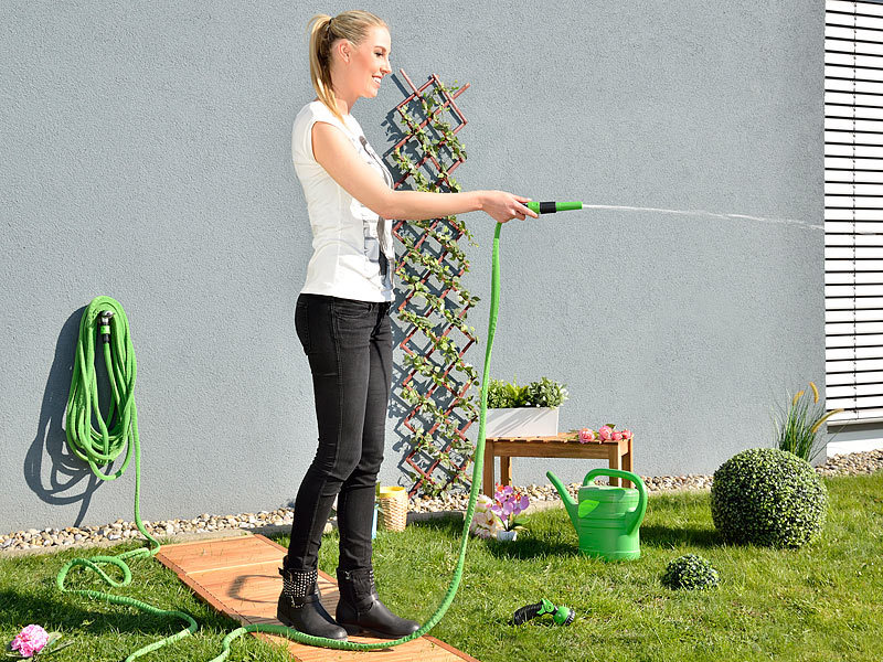 Royal Gardineer Dehnbarer Gartenschlauch PRO.V2, 2,5 bis 7,5 m