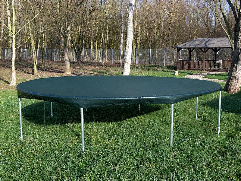 royal gardineer gewebe abdeckplane xxl rund f r pool trampolin 460 x 17 cm x h. Black Bedroom Furniture Sets. Home Design Ideas