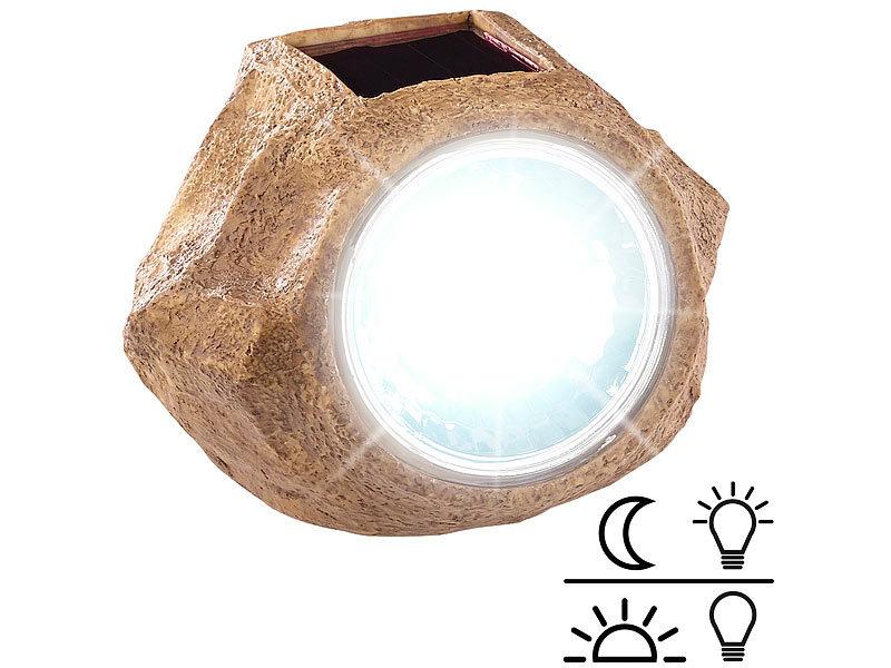 Relativ Royal Gardineer Solar-LED-Gartenlicht in Stein-Optik, wechselbarer QH32