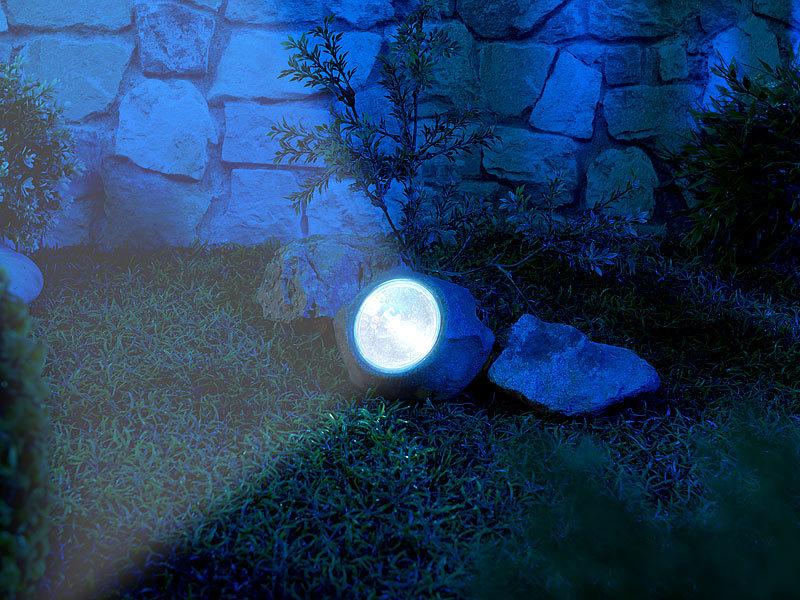 Sehr Royal Gardineer Solar-LED-Gartenlicht in Stein-Optik, wechselbarer FZ48