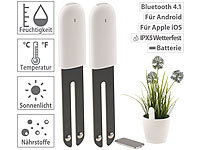 Royal Gardineer 2er-Set 4in1-Pflanzensensor mit Bluetooth und App-Kontrolle