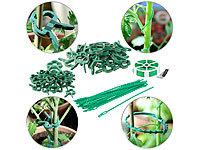 Royal Gardineer Pflanzenhalter: Pflanzenbefestigungs-Set mit Pflanzenclips XXL-Pack Blumen- und Pflanzen-Befestigungen 71-teilig