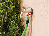 Royal Gardineer Kugelhahn Kugelventil Wasserh/ähne Wasserhahn mit Kugelauslaufventil und 3//4-Zoll-Anschluss