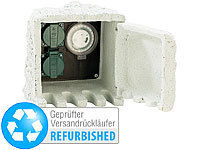 Royal Gardineer Gartensteckdose m. Zeitschaltuhr IP44/230V (refurbished); Gartensteckdosen in Stein-Optik